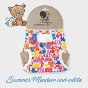 Vrchné PUL nohavičky 1-size (new gen) /ZIPS/ - Summer Meadow and white 1-PUL-Z-043